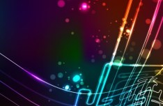 Vector Colorful Flowing Lines Background 01