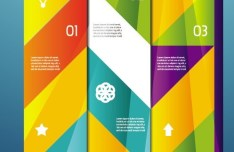 Vector Colorful Inforgraphic Step Circle Elements 03