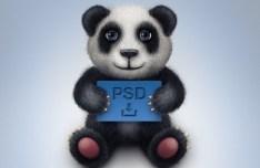 Cute Toy Panda Icon PSD