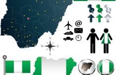 Vector Nigeria Information Graphic Elements