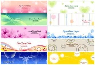 Fresh and Fashion Vector Banner Set