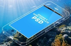 PSD iPhone 5 Wire Template