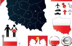 Vector Poland Information Graphic Elements