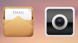 4 Elegant App Icons PSD