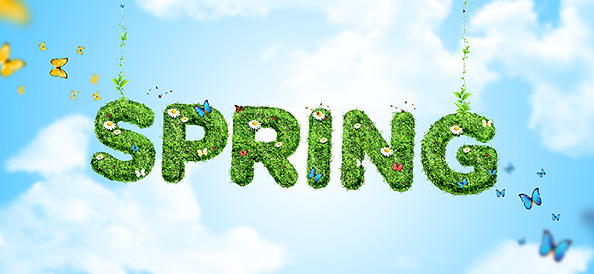 Green Spring Background PSD