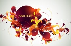Vector Colorful Floral Text Background 03