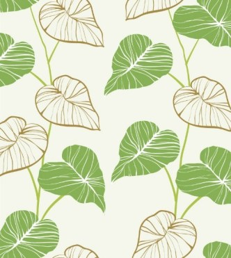 Classical Green and Brown Leaf Background Vector
