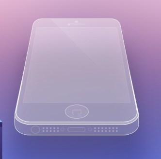 Clean and Transparent iPhone 5 Wireframe PSD