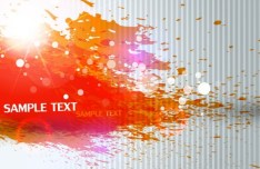 Fashion Orange Splash Background Vector
