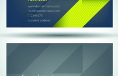 Set Of Vector Personalized Business Card Design Templates 04