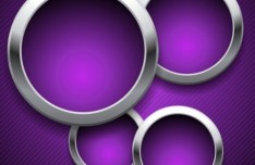 Vector Violet Lines background with Metal Rings