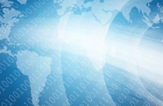 Blue Digital Technology Background Vector 01