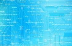 Blue Digital Technology Background Vector 03
