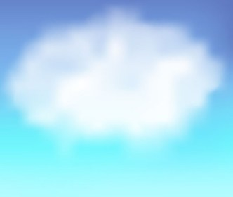 Vector Blue Sky with White Clouds Background 02