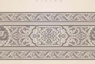 Vector Vintage Royal Floral Design Elements 04