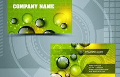 Clean Technology Business Card Design Template Vector 01