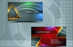 Clean Technology Business Card Design Template Vector 05