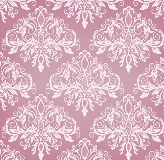 Pink Vintage Floral Pattern Background 02