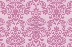 Pink Vintage Floral Pattern Background 05