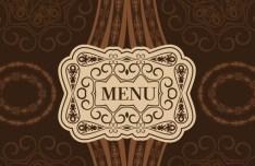 Classical Restaurant Menu Cover Design Vector 03