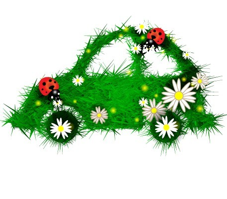 Vector Green ECO Concept Grass Background 04