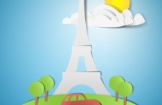 Vector Paper Traveling Background 04