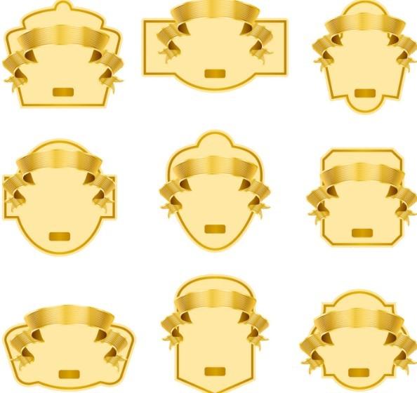 Badges Templates. free golden blank label design 02 titanui ...