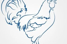 Simple Vector Chicken Illustration 05