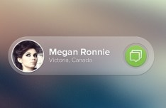 Transparent PSD Message Widget Interface