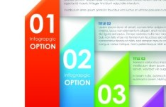 Vector Colorful Paper Banners with Numbers 01
