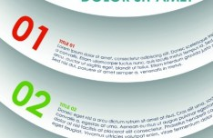 Vector Colorful Paper Banners with Numbers 04