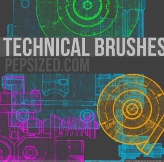 Vintage Technical PS Brushes