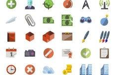 3600+ Flat Style Icons Collection