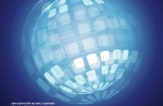 3D Blue Globe Background Design Vector 03