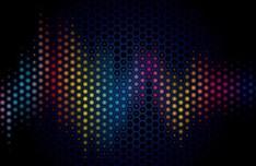 Dark Blue Abstract Polka Dot Background Vector 02