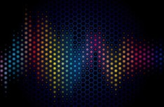 Dark Blue Abstract Polka Dot Background Vector 02