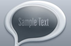 3D Paper Speech Bubble Template Vector 01