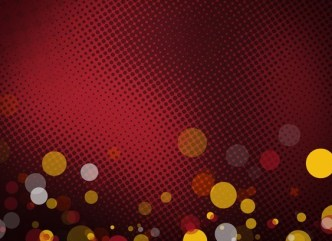 Abstract Red Halftone Background Texture