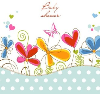Clean Hand-painted Floral Background Vector 03
