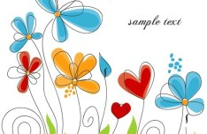 Clean Hand-painted Floral Background Vector 04