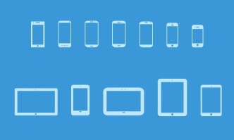 Popular Mobile Device Icons PSD