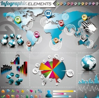 Vector Colorful Infographic Elements Collection 02