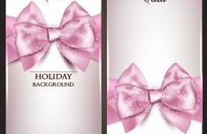 Vector Fantastic Gift Cards with Ribbon Bows 03