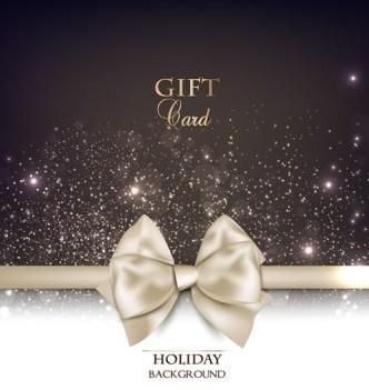 Vector Fantastic Gift Cards with Ribbon Bows 04