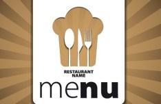 Elegant Restaurant & Cafe Menu Cover Template Vector 02