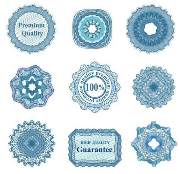 Set Of Vector Guilloche Rosettes Quality Decorative Elements 01