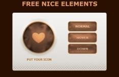 Sweet Brown Web UI Kit PSD