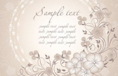 Vector Simple and Elegant Flower Background