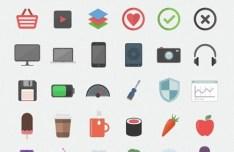 Flatilicious - 48+ Flat Style Icons