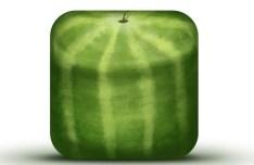 Fresh Watermelon Icon Template PSD